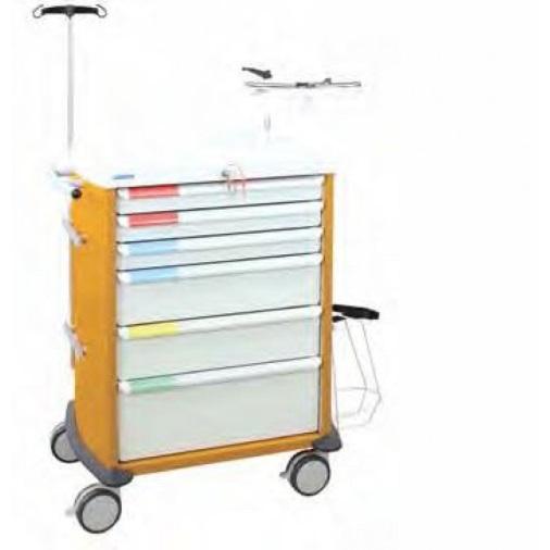 Chariot d'urgence jaune - Energie médical…