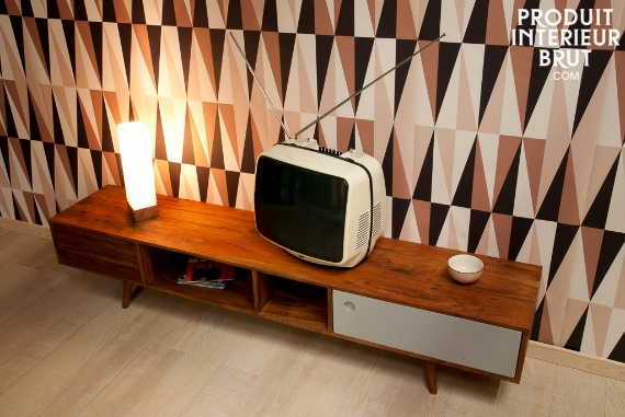 Meuble Tv scandinave au design vintage